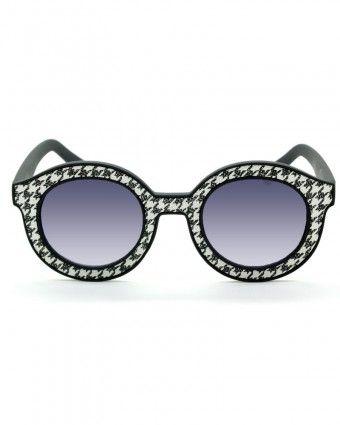 Marco de policarbonato, lente de policarbonato.Bisagras de acero inoxidable 100% de protección UV colores: sparkly tweed, azul