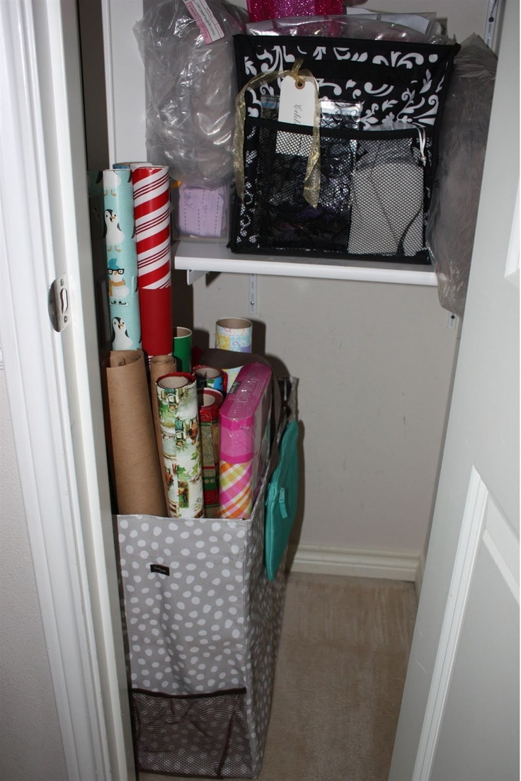 images about uses bags shower gifts and my wrapping paper station room for two utility tote