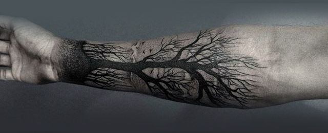 Explore the great outdoors with the top 60 best forearm tree tattoo designs for men. Discover cool connections to earth with forest inspired ink ideas.