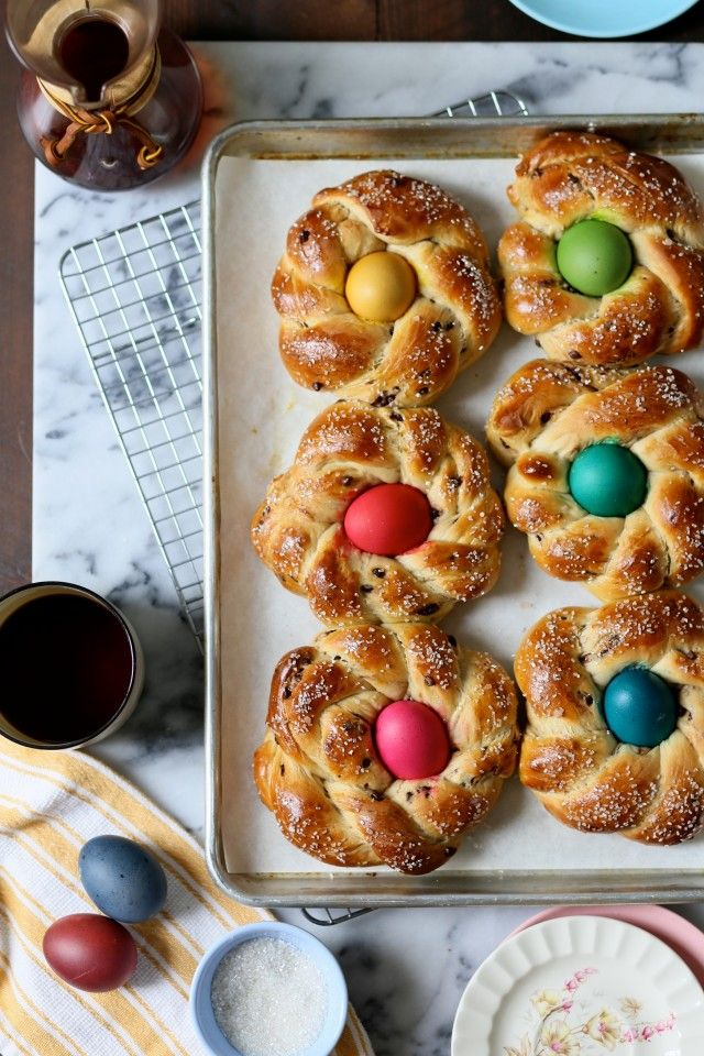 Chocolate Marbled Italian Easter Bread // joy the baker