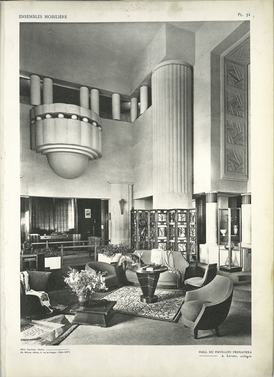 Art Deco Room in the Spring Pavilion From Ensembles mobiliers (1925)