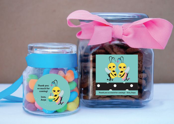 Bumble Bee Party Favor Stickers From Soulfulmoon