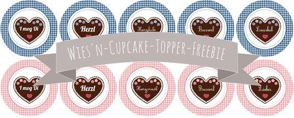 Wies´n-Cupcake-Topper-Freebie by http://dreierlei-liebelei.blogspot.de