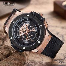 MEGIR Relojes Para Hombre Top Marca de Lujo de Los Hombres Militares Deportes Cronógrafo Luminoso Reloj de Pulsera de Cuero Reloj de Cuarzo relogio masculino(China (Mainland))
