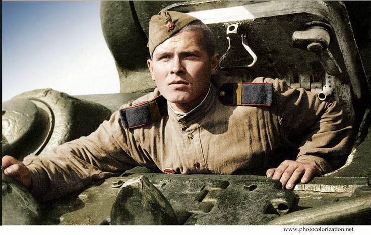 The mechanic-driver senior Sergeant N. Kruglov. 1943