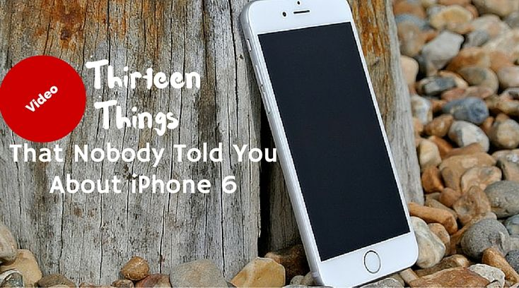 Thirteen Things That Nobody Told You About iPhone 6 http://savedelete.com/internet-tips/things-nobody-told-about-iphone-6/186484/ #iPhone #tricks #apple #iOS