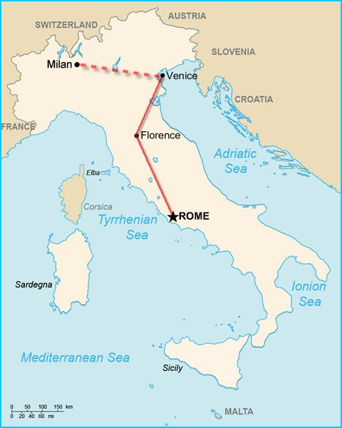 How to do Italy's big three: Rome, Florence, Venice, in just one week(ish). Train, no car.