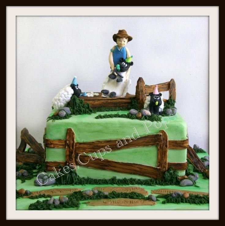 Sheep Shearing Cake 100%Edible..   My Cakes   Pinterest