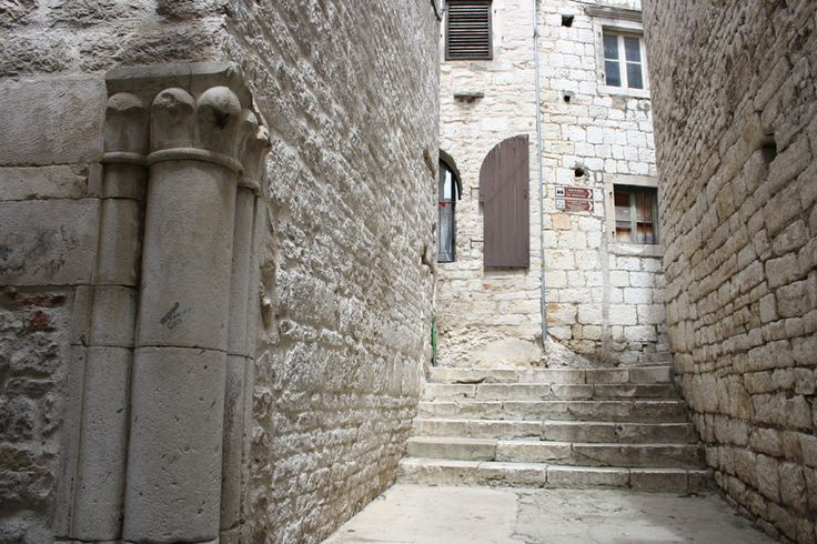 The old town of Sibenik, Croatia, located in central Dalmatia.