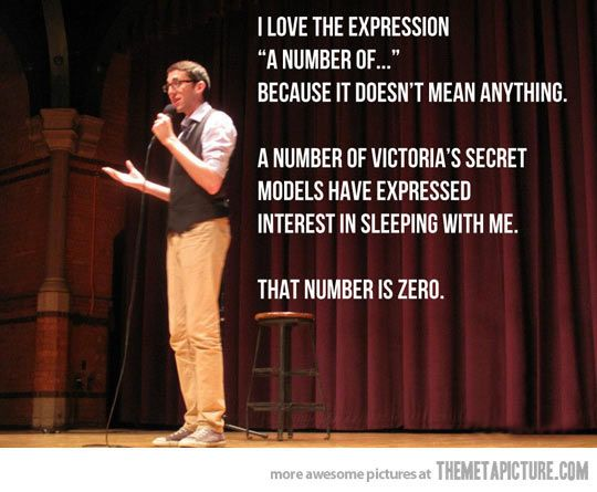 """I love the expression """"a number of"""""""