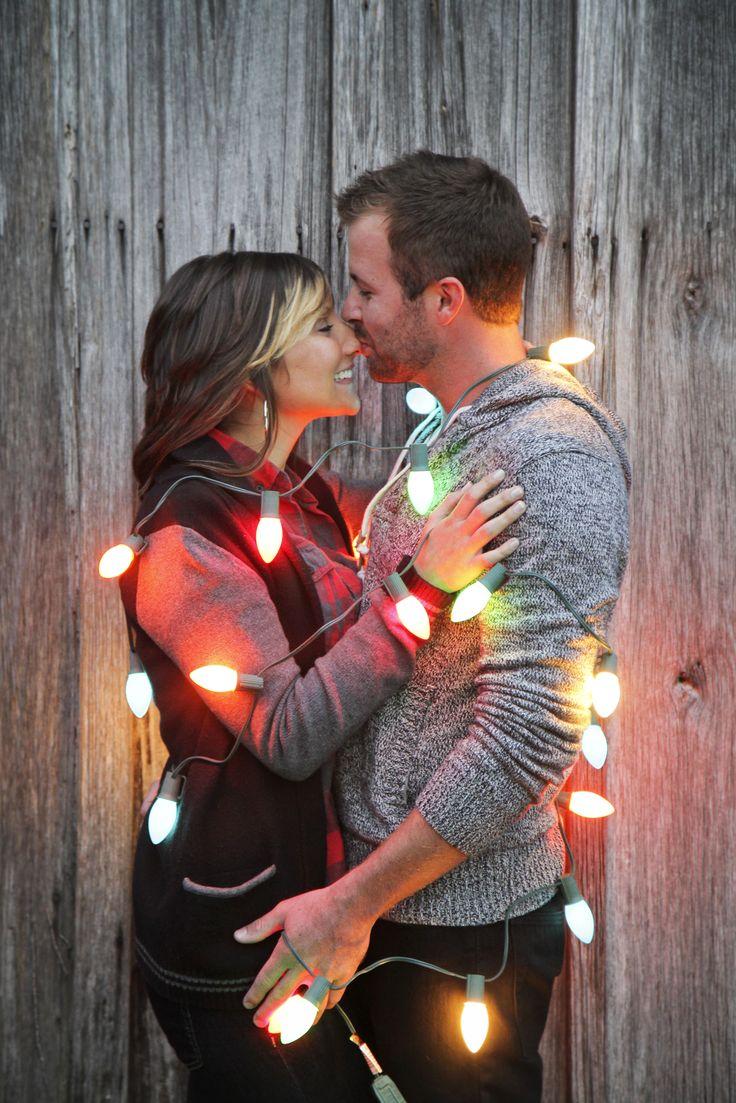 Christmas Engagement Photo