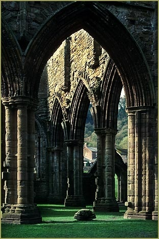 Arches Tintern Abbey Wales; photograph by Thomas Wells