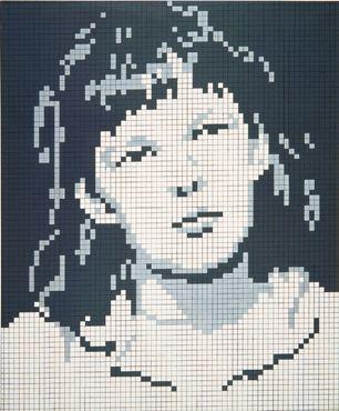 Wanna go!: Porträt A H, Pixel Art Portrat, Crossword Puzzles, Reinhard Voigt, 1969, Posts,  Crossword, Kunstmuseum, Art Art
