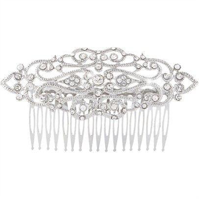 Swarovski Vintage Hair PieceOzsaleTYM7-silver