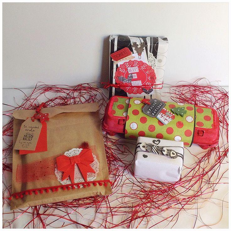 Regalos para Navidad #scrapbooking #wrapping #packaging #christmas #navidad