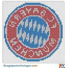 Bayern München Bügelperlen Vorlage. Auf buegelperlenvorlagen.com kannst du eine große Auswahl an Bügelperlen Vorlagen in PDF Format kostenlos herunterladen und ausdrucken.