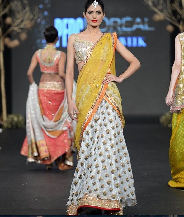 Tilsim by Sania Maskatiya. At the PFDC Bridal Week 2013 - mehndi!