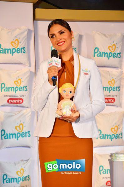 Lara Dutta at the Launch of 'Pampers Premium Care Pants' in Mumbai