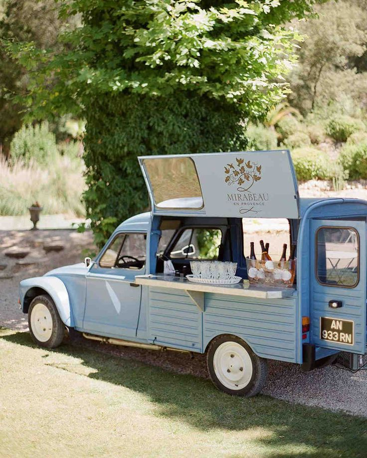 Trending Now: Drink Stations to Elevate Your Reception | Martha Stewart Weddings - Serving your favorite wine just got a whole lot cooler. Sure, you can set up a bar devoted just to the varietals you love, but why not hire a truck to pour glasses for guests instead?