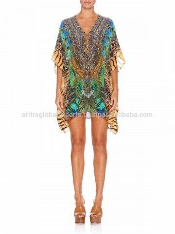 Source Digital Roar Of The Wild Short Lace Up Kaftan on m.alibaba.com