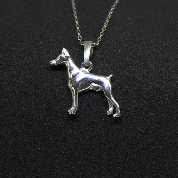 Doberman jewelry pendant by jewelledfriend. Explore more products on http://jewelledfriend.etsy.com