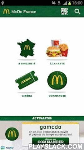 McDo France  Android App - playslack.com , McDonald's France: the official application.Now all of your favorite McDonald's™ services are available, right from your pocket!Discover online ordering on your mobile, now available in our restaurants. Order and pay in one click and be served faster when you get to McDonald's™. How it works:- Place an order and pay right from your Android- You will receive a QR Code and order confirmation number- Go to the McDonald's where the order was placed and…