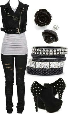 Sexy modern goth outfit