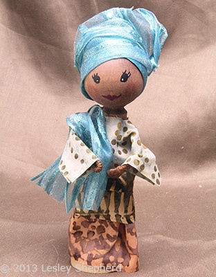 Nigerian Traditional Dress Clothespin Doll Tutorial