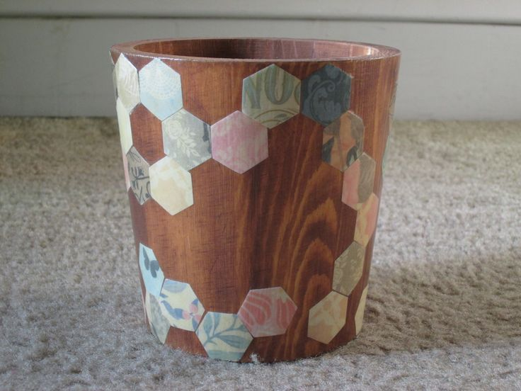 This wood pot is from the Handmade Modern collection at Target. I love the wood grain, just rub paint onto the surface with a wet cloth.