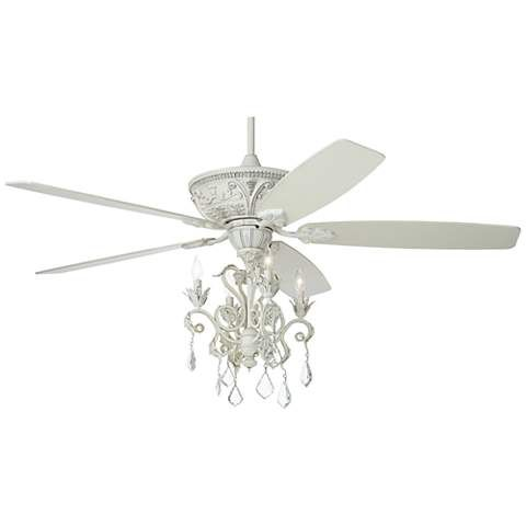 60 Quot Casa Montego Rubbed White Chandelier Ceiling Fan