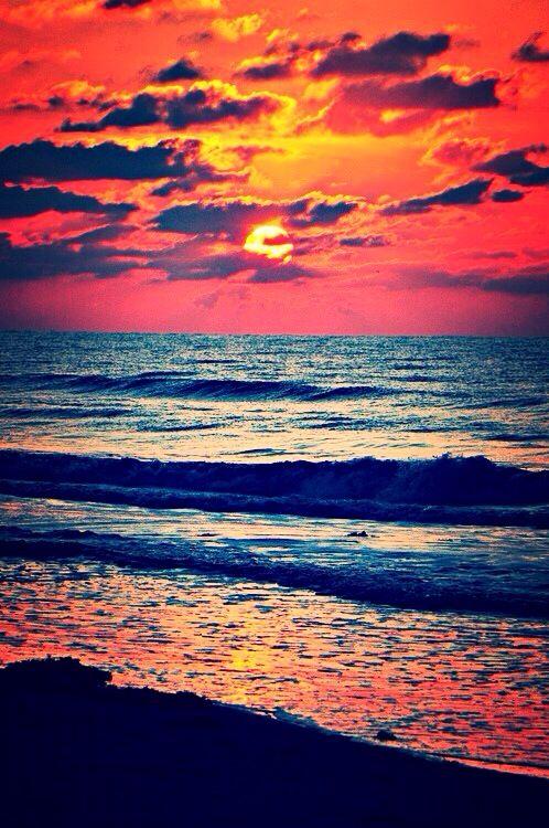 Spectacular Ocean sunset