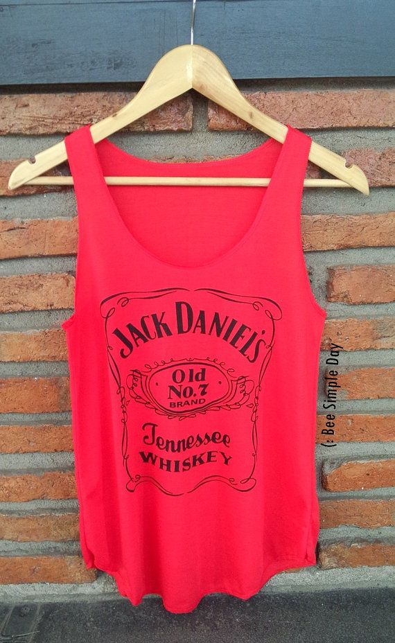 Hey, I found this really awesome Etsy listing at https://www.etsy.com/listing/238634253/russian-red-jack-daniels-tank-top
