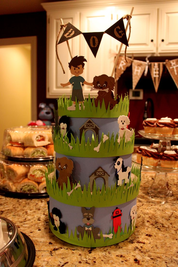 Puppy Dog Birthday Party Centerpiece Cake I Made That