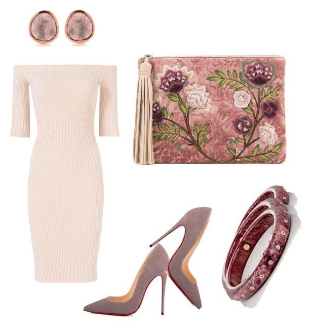 """Dusty rose"" by alexiss-yvore on Polyvore featuring Sam Edelman, Helmut Lang, Christian Louboutin, Mark Davis and statementbags"