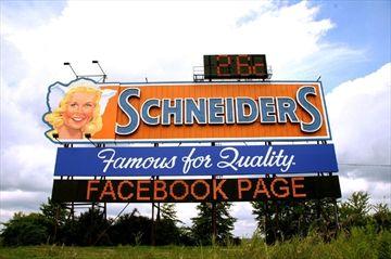 Schneider sign makeover complete