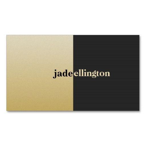 Cool Bold Gold and Black Color Block Designer Business Cards
