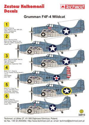D B Cee B E A C Fac B Nose Art Military Aircraft on F4f Wildcat Markings