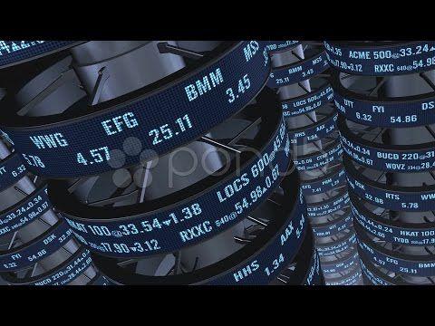 Stock Market Ticker Tubes. Stock Footage