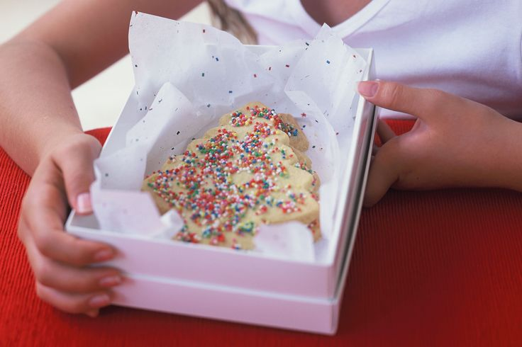 Box up these shortbread trees for a Christmas gift both kids and adults will love.