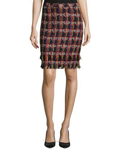 Jael Tweed Pencil Skirt, Multi