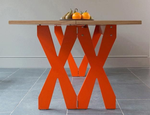 8 best Folding dining table images on Pinterest Space  : d652c0299152db7e9830b5cbb4552088 space saving furniture console tables from www.pinterest.com size 625 x 480 jpeg 32kB