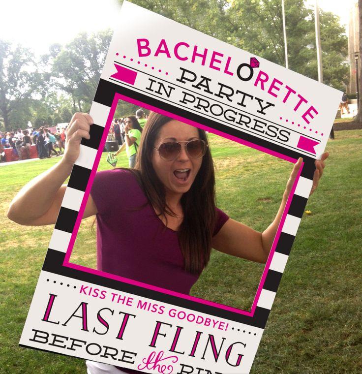 Bachelorette Party Ideas - Bachelorette Photo Prop - Last Fling Before The Ring