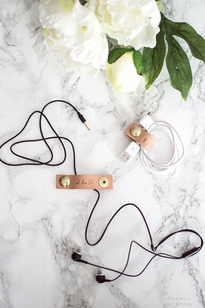 DIY: leather cord keepers