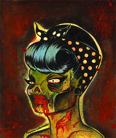 Zombie Pin Up Drawing 25 best images about H...