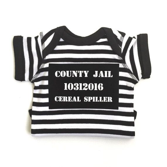 This funny jailbird costume is perfect for babys first Halloween. This costume…