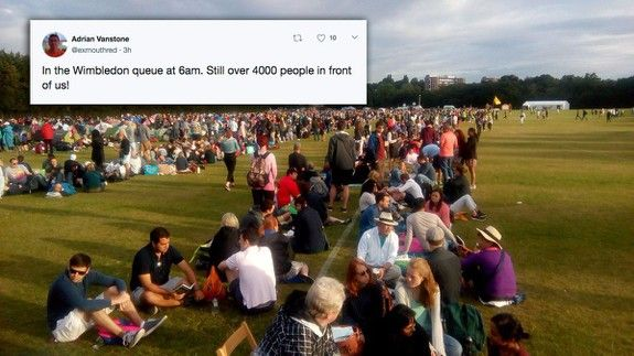 Tennis fans queuing all night for Wimbledon opening is ridiculously British