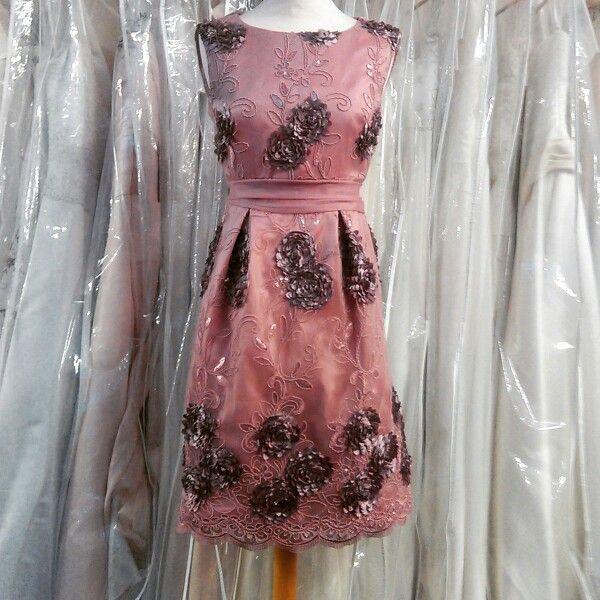 Pink dress by Geraldine O'Meara designs AW15