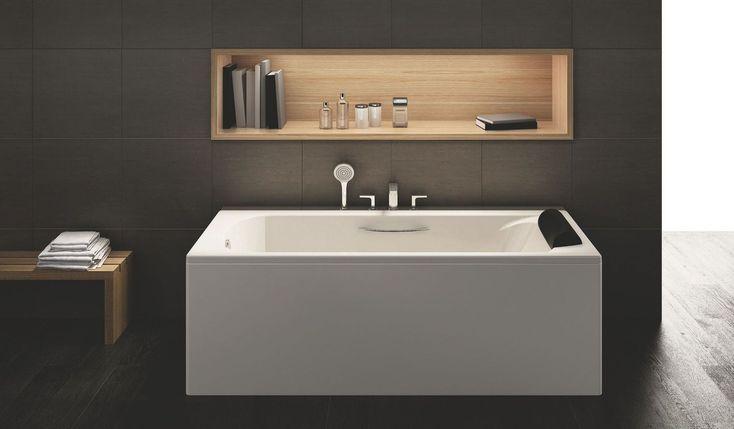 Les 254 meilleures images propos de vanit sur pinterest toilettes cuisine et buanderies - Construire niche salle de bain ...