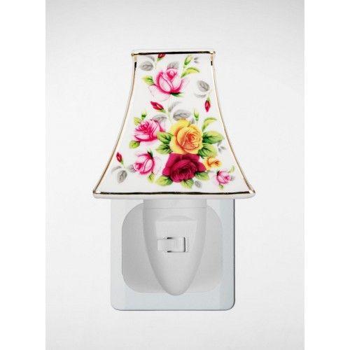 Stekkerlamp met Engelse rozen