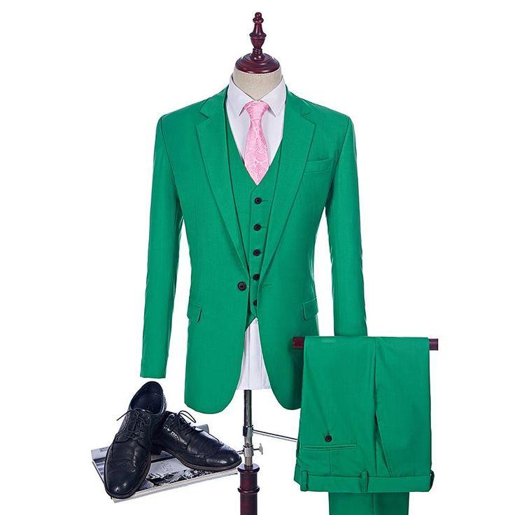 Green Wedding Tuxedo Custom Made Man Suits As Groom Suit 2017 Green Wedding Tuxedos 3 Piece Suit Man Clothes